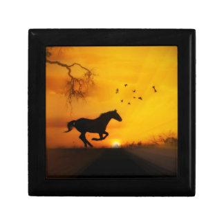 Schöner laufender Pferdeandenken-Kasten Erinnerungskiste