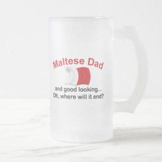 Schöner maltesischer Vati Mattglas Bierglas