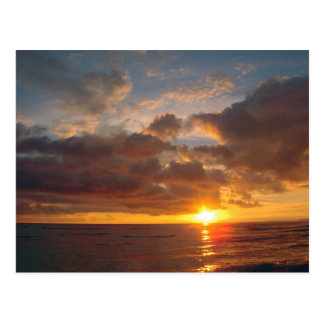 Schöner Maui-Sonnenuntergang Postkarte