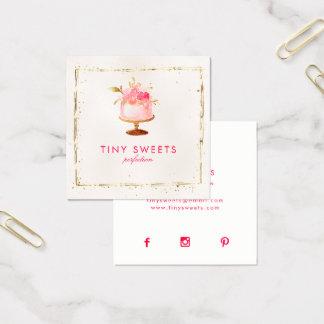 ★ schöner Patisserie, Bäckerei, Kuchen u. Quadratische Visitenkarte
