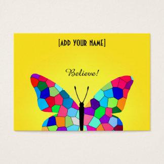 Schöner Regenbogen-Buntglas-Schmetterling Visitenkarte