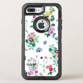 Schöner romantischer Girly Blumen-Entwurf OtterBox Defender iPhone 8 Plus/7 Plus Hülle