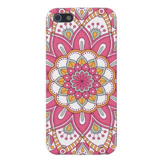 Schöner rosa Blumen-Entwurf iPhone 5 Schutzhülle