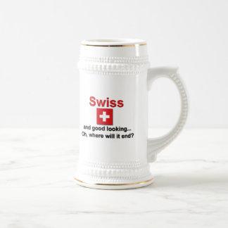 Schöner Schweizer Bierkrug