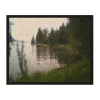 Schöner See-Entwurf: digital geändertes Foto Holzleinwand
