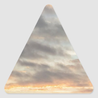 Schöner Sonnenuntergang-Aufkleber Dreieckiger Aufkleber