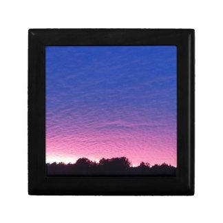Schöner Sonnenuntergang Schmuckschachtel