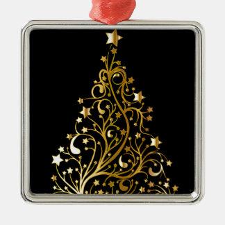 Schöner sternenklarer metallischer silbernes ornament