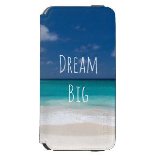 Schöner Wasser-Strand-personalisiertes Bild und Incipio Watson™ iPhone 6 Geldbörsen Hülle