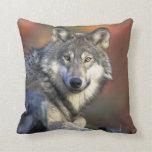 Schöner Wolf Kissen