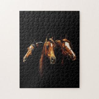 Schönes arabisches Pferdepuzzlespiel