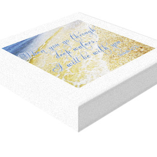 "Schönes Bild + Bibel-Vers-Leinwand 12"" X12 "" Leinwanddruck"