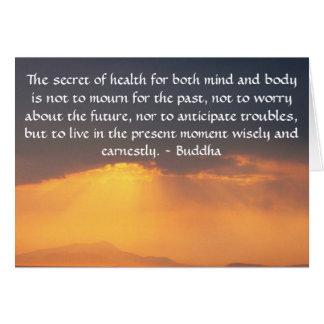 Schönes buddhistisches Zitat mit inspirational Karte