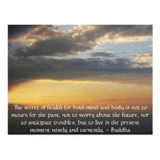 Schönes buddhistisches Zitat mit inspirational Postkarte