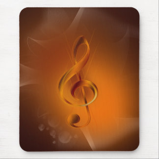 Schönes cooles glühendes Feuer färbt Effektmusik Mauspads