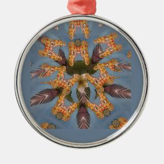 Schönes fantastisches lustiges afrikanisches silbernes ornament