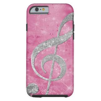 Schönes glittery Effektsilber dreifacher Clef Tough iPhone 6 Hülle