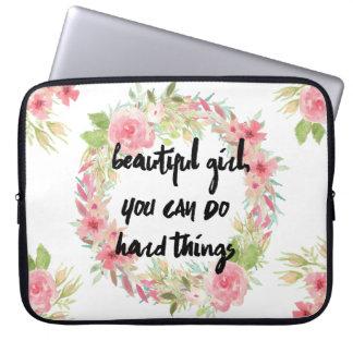 Schönes Mädchen KÖNNEN SIE harten Laptop Sleeve