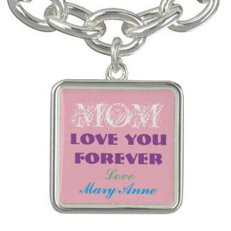 Schönes Monogramm-Charme-Armband für Mamma Charm Armband
