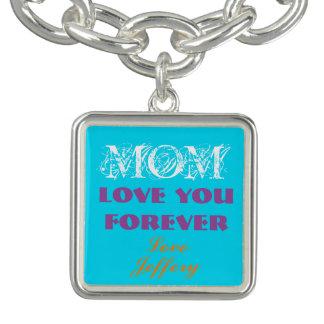 Schönes Monogramm-Charme-Armband für Mamma Charm Armbänder