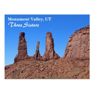 Schönes Monument-Tal, drei Schwester-Postkarte! Postkarte