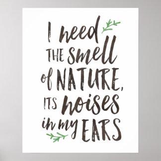 Schönes Natur-Typografie-Plakat oder Druck Poster