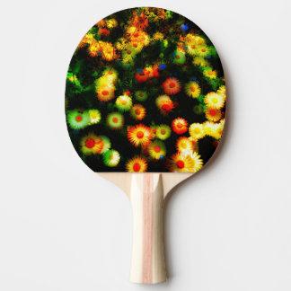 Schönes NeonBlumenPing Pong Paddel Tischtennis Schläger