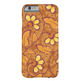 Schönes orange Blumen-Muster Barely There iPhone 6 Hülle