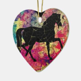 Schönes Pferd auf Schalen-Farbe Keramik Ornament
