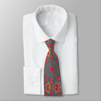 Schönes rosa aquamarines orange Zen-Muster Bedruckte Krawatten