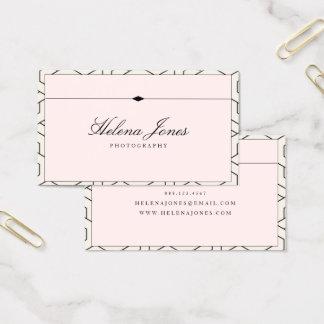 ★ schönes rosa geometrisches visitenkarte