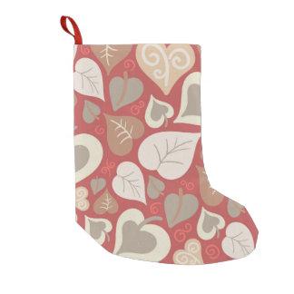 schönes rotes Liebeherz-Blätter Kleiner Weihnachtsstrumpf