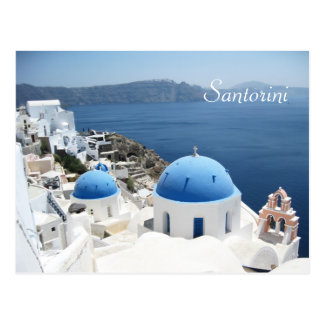 Schönes Santorini Griechenland Postkarte