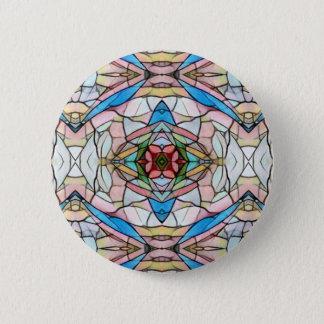 Schönes seltenes künstlerisches Buntglas-Muster Runder Button 5,1 Cm