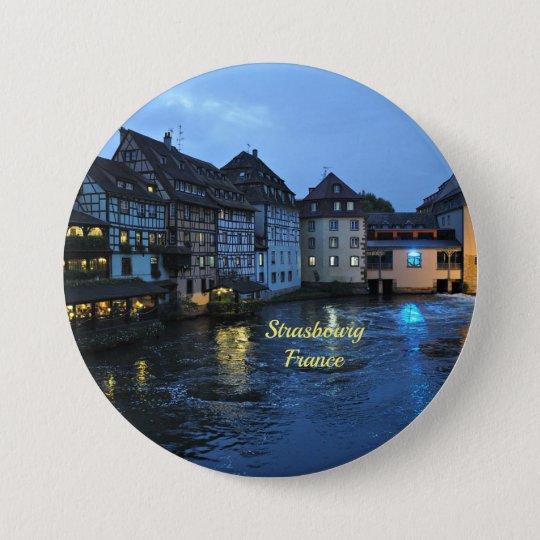 Schönes Straßburg, Frankreich Runder Button 7,6 Cm