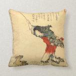 Schönes Vintages japanisches Kunstkissen Kissen