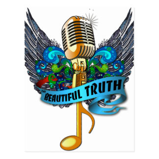 Schönes Wahrheits-Mikrofon und Anmerkung Postkarte