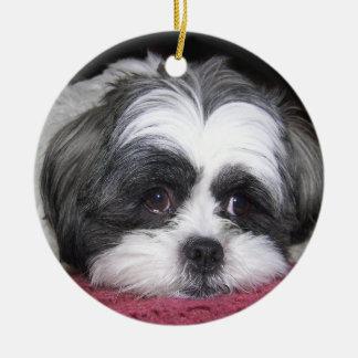 Schönheit der Hund Shih Tzu Keramik Ornament