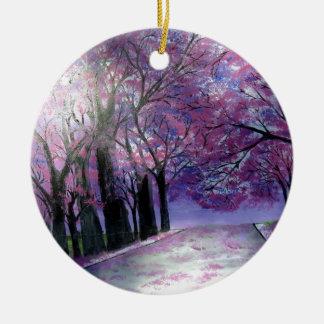 Schönheit Fleur Rundes Keramik Ornament