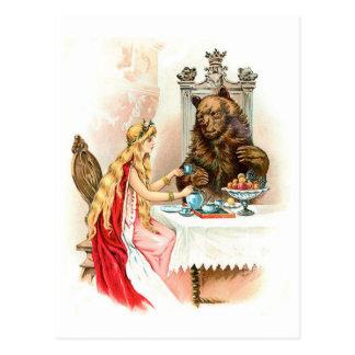 Schönheit im Rosa und im Tier Postkarte