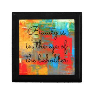 Schönheit ist im Auge des Beschauers Erinnerungskiste