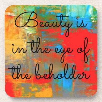Schönheit ist im Auge des Beschauers Untersetzer