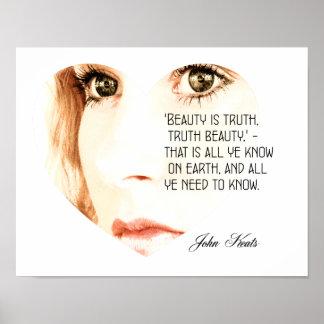 Schönheit ist Wahrheit - John Keats - Kunst-Druck Poster