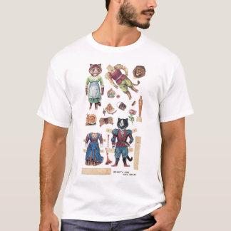 Schönheit und das Tier, Louis Wain T-Shirt
