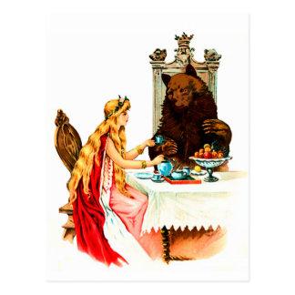Schönheit und das Tier Postkarte