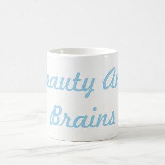 Schönheit und Gehirn-Tasse Kaffeetasse