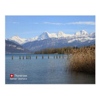 Schönheit von der Schweiz Postkarte
