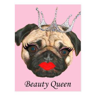 Schönheits-Königin Postkarte