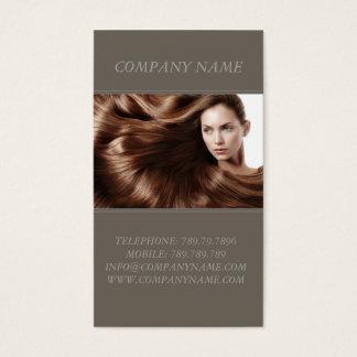 Schönheits-Salon-Brown-Haar-Modell-Frauen-Stylist Visitenkarte