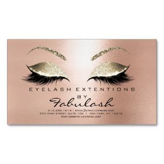 Schönheits-Salon-GoldGlitter-Adressen-Make-up dünn Magnetische Visitenkarten